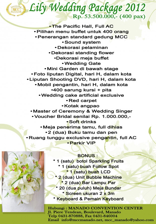 LILY WEDDING PACKAGE 2012